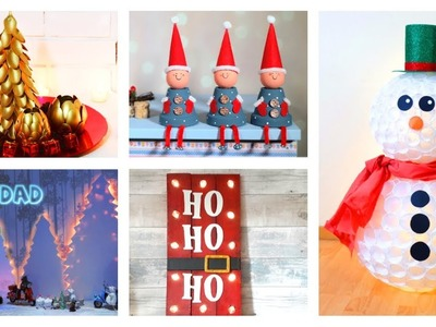 5 ideas to make this Christmas | snowman with plastic cups and more Christas Crafts
