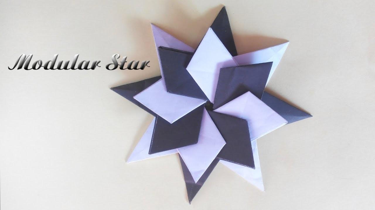A Modular Origami Star Origami Flower Creative Idea 01
