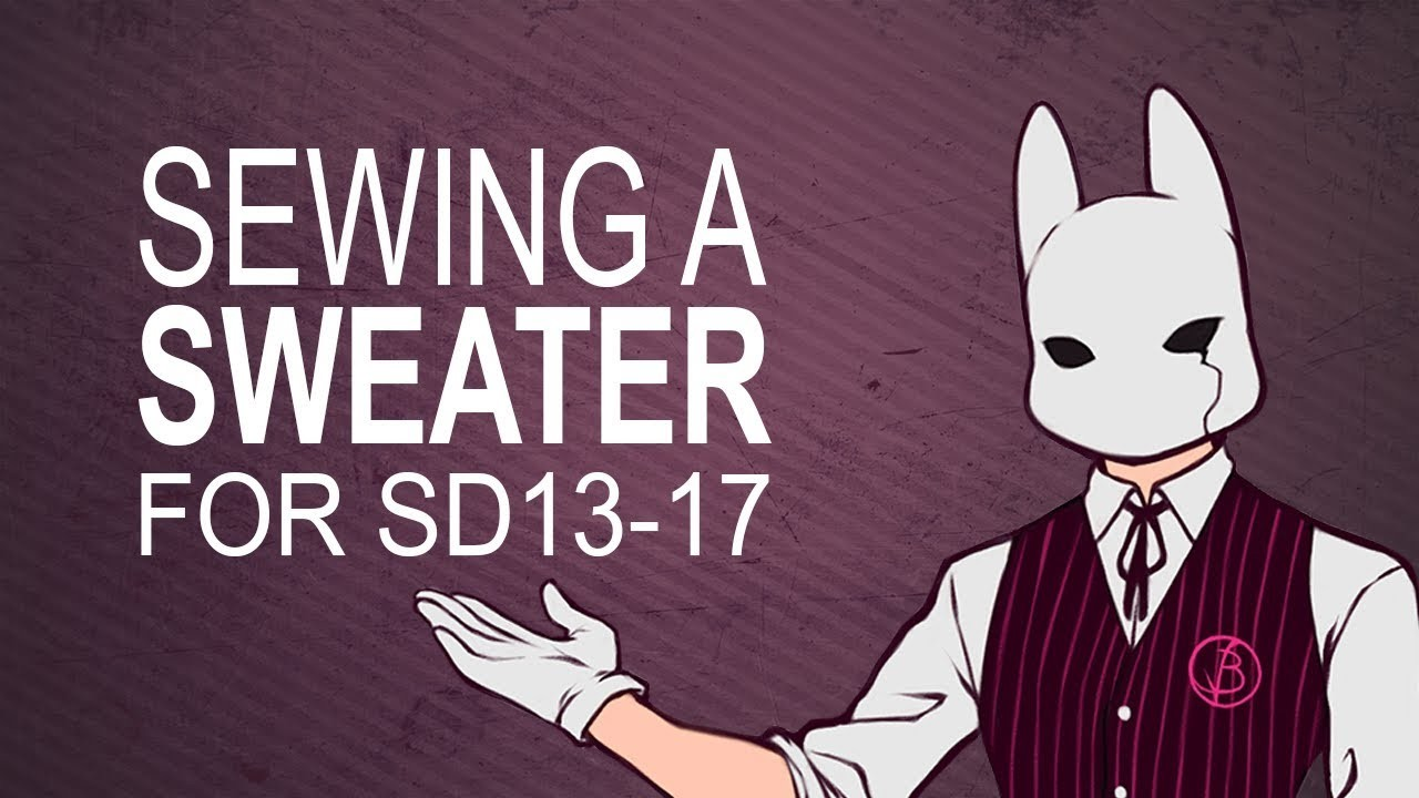 BJD Sewing Tutorial for Sweater from my Pattern