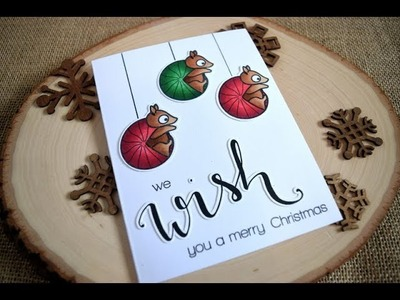 Christmas Card with Non Christmas Stamps featuring Create a Smile