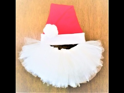 Day 23 ~ 50 Christmas Crafts in 50 Days ~ Tulle Santa Claus Wreath 2017