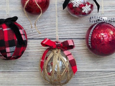 Decorate Clear Christmas Ornaments the Easy Way with this Tutorial!
