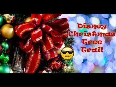 Disney Christmas Tree Trail and Hiding Painted Disney Rocks | Disney Food Review