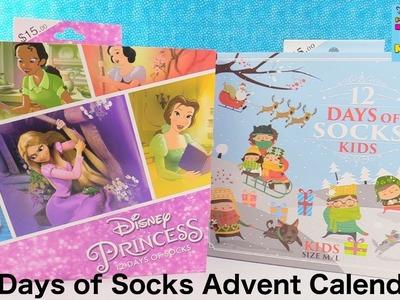 Disney Princess 12 Days Of Socks Christmas Advent Calendar Unboxing | PSToyReviews