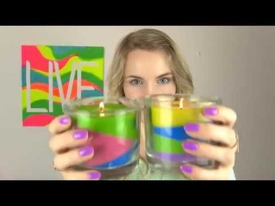 DIY candle with crayon by sara beauty corner