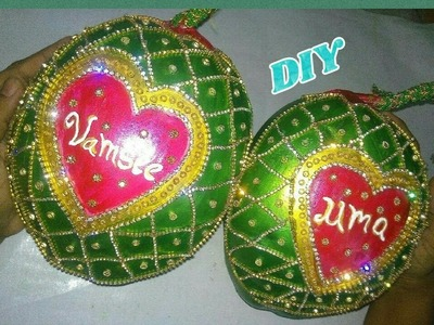 DIY Coconut. kobbaribondam decoration for wedding | Making with stone chain