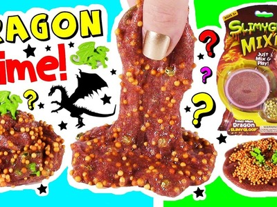 DIY Dragon SLIME Mixing Kit! Mix Dragons & FOAM! Sparkling Red SLIME! Edible CANDY Fidget SPINNER!