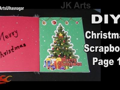 DIY Easy Christmas Scrapbook | Page 1 | JK Arts 1318
