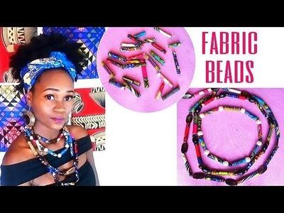 DIY Fabric Bead Necklace- African Print.Ankara.Dashiki