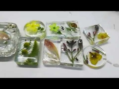 DIY: Flower, Insect, Small fish casting in Epoxy Resin using Silicone Mould. India