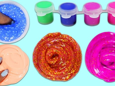 DIY Making Four Different Slimes with Cra-Z-Art Nickeloden Playset!