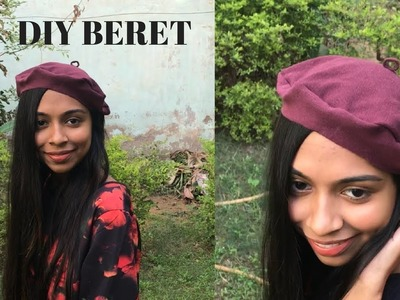 DIY No Sew Beret from old T-shirt in 2 mins!!! India