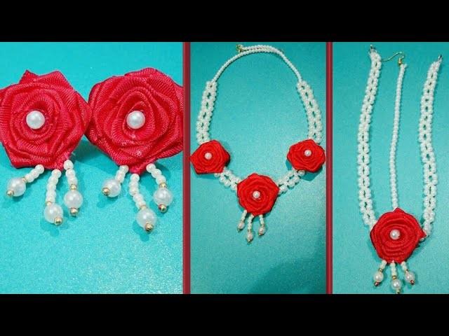 DIY Pretty Rose Necklace for Haldi Ceremony | Art & Creativity ❤