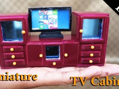 DIY  Realistic Miniature TV  Cabinet -  Handmade Dollhouse