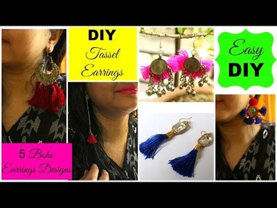 DIY Tassel Earrings | How to make Boho Tassel Earrings | DIY Earrings in 5 Designs