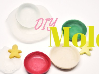 Easy DIY Mold with Hot Glue - Works for Homemade Clay