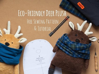 Eco-Friendly Deer Plush Making Tutorial with Free Sewing Pattern