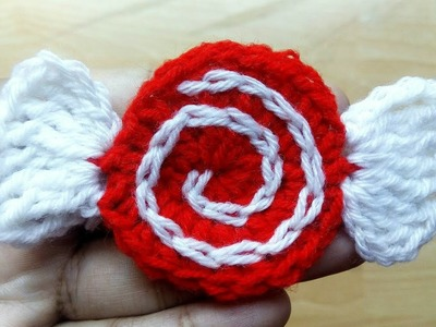 Especially For You   Crochet Peppermint Candy Ornament   Christmas and Winter Season