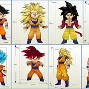 Goku - DIY Paper Models - Pack Nº1 (Japanese Anime Dragon Ball)