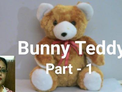 Handmade Bunny Teddy Making Part -1.Soft Toys Making. Debjani Creations Tutorial