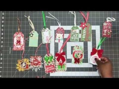 Handmade Christmas Gift Tags & Embellishments - 25 Nov 17