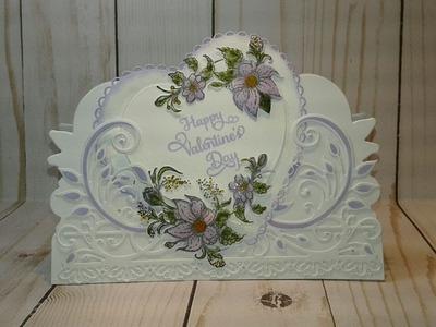 Heartfelt Creations Valetine's Day CASE Card Process Video