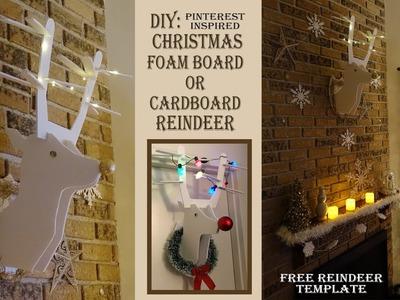 Holiday DIY. Reindeer Foam Board or Cardboard