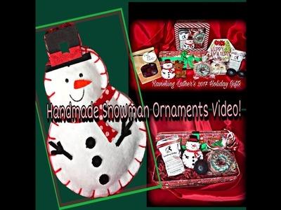 Holiday Handmade Snowman Ornaments' Video!!!