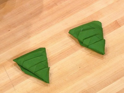 How to Fold Your Napkins Into Christmas Trees