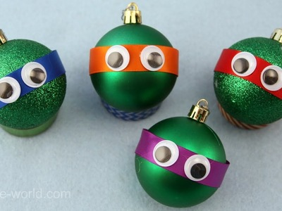 How to Make a Teenage Mutant Ninja Turtle Christmas Ornament | Sophie's World