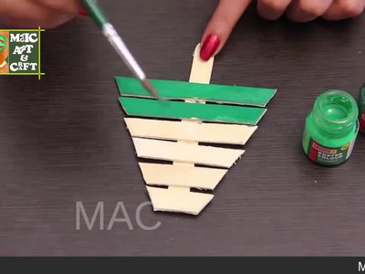 How To Make Christmas Tree Craft With Candy Sticks