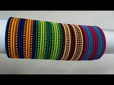 Kalar-4|| DIY double colour silk thread jewelry.simple and elegant bangles