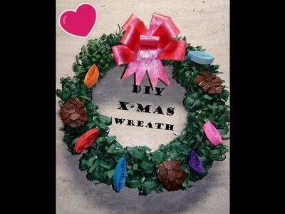 Let's make an awesome small Christmas Wreath with recycled papers Part 2