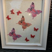 lightweight shabby chic framed love butterfly picture