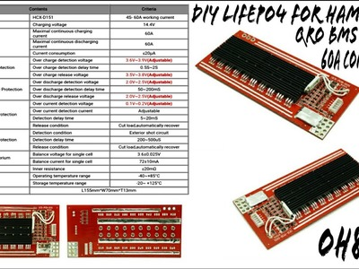 Mail bag: DIY LiFePO4 Battery BMS 4S 50A for Ham Radio