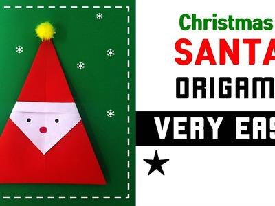 [Origami Christmas] 36_Origami Santa Claus_very easy