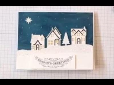 Pretty Night Sky Christmas Card