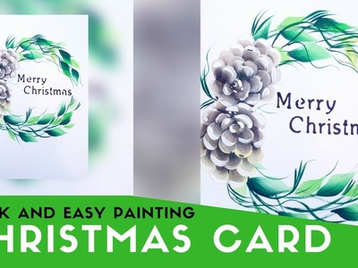 Quick and easy greeting card painting | Christmas painting series | simple and easy DIY