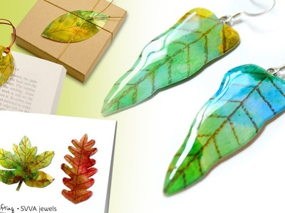 Quick Thanksgiving Card, Pretty Jewelry and more - My Watercolor Leaves Projects