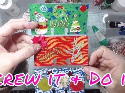 Screw It & Do It! 10 Minute Art! Christmas Style!