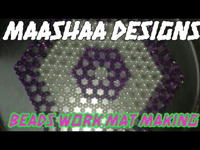 Table runner making with beads