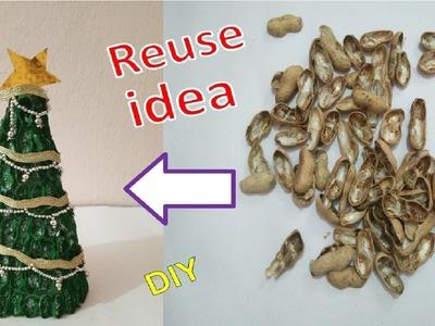Table Top Christmas Tree from Peanuts. Groundnuts | मूंगफली से Christmas Tree बनायें |