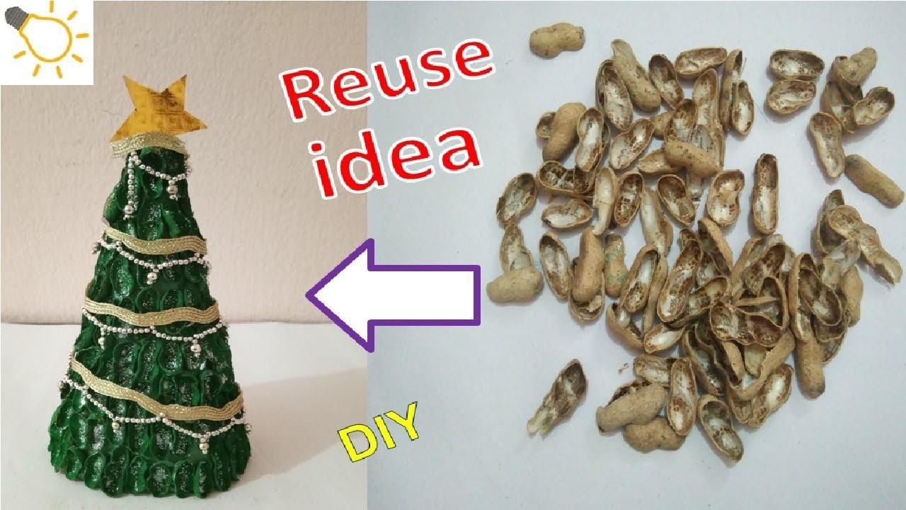 Table Top Christmas Tree from Peanuts. Groundnuts   मूंगफली से Christmas Tree बनायें  