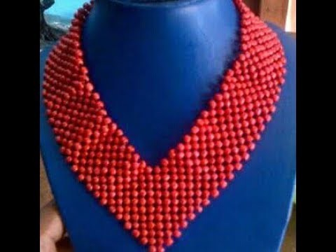The tutorial on how to make this beaded mating necklace