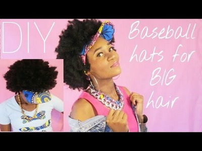 3 DIY baseball hats.Visors for BIG Afro hair ft African print