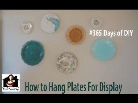 365 DAYS of DIY - How to hang plates on wall display