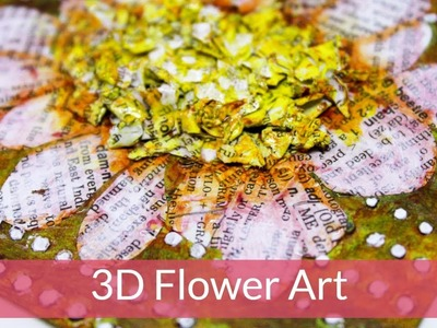3D Flower Art Using Dictionary Paper