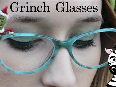3D Grinch Glasses Acrylic Nail Art Tutorial | Firmoo