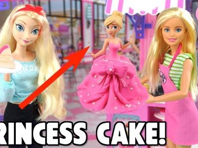 Barbie Pink Princess Dress Cake for Frozen Elsa Doll -  DIY Princess Cake Kit