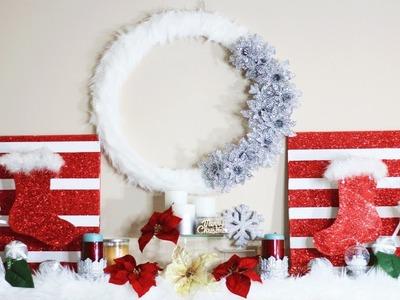 BIG LOTS Inspired Christmas Wreath | 12 DIYs of Christmas: Day 1 | Merry Craftmas